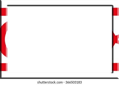 Frame striped Turkish Republic of Northern Cyprus flag