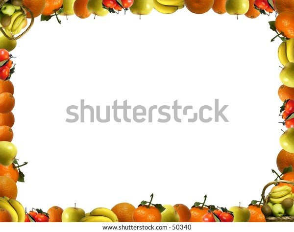 Frame that consists of fruit. Can be used for greeting cards, flyers, promotional leaflets, etc,....
