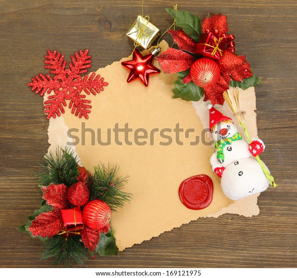 Frame Vintage Paper Christmas Decorations On Stock Photo Edit Now