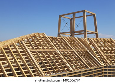 Frame of wooden boards as the basis for the construction of the house
