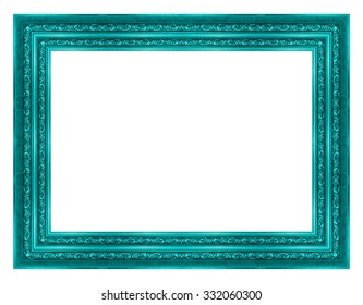 frame wooden isolated on white background.