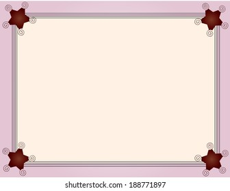 Framed background with ribbon edge style four black wires.