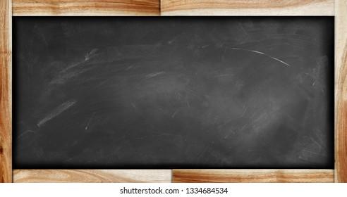 Framed blackboard or chalkboard on plain background