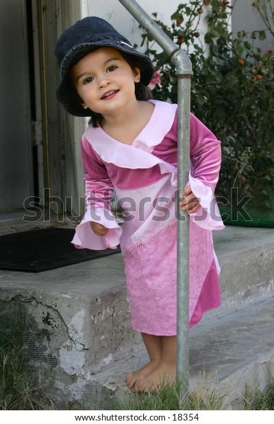 framed child standing