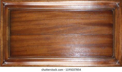 framed natural mahogany wooden board