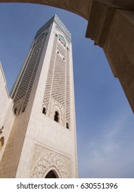 Framed view of Hassan II's mosque