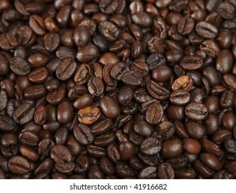 frameful of coffe Beans