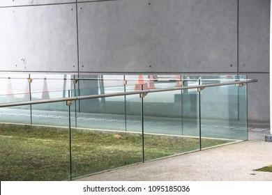 Frameless, tempered laminated glass, Balcony railing,  ,safety glass