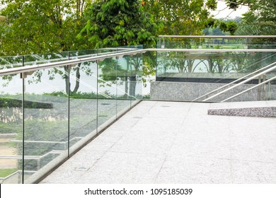 Frameless, tempered laminated glass, Balcony railing,  ,safety glass