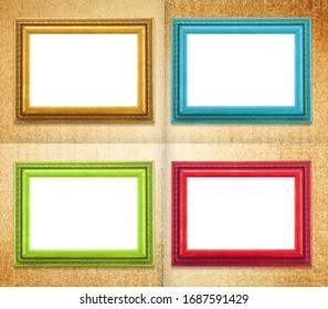 Frames four colors, on tree decorative background