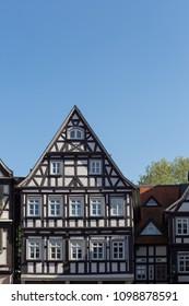 framework city facades in south germany historical city named schorndorf near stuttgart area