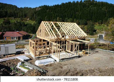 Framework of house under construction