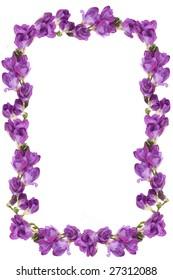 Framework from natural flowers