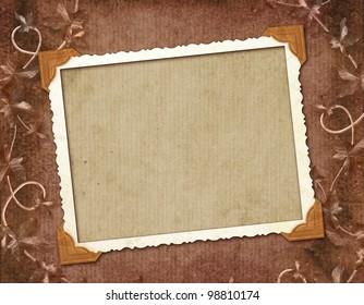 Framework for photo or congratulation.