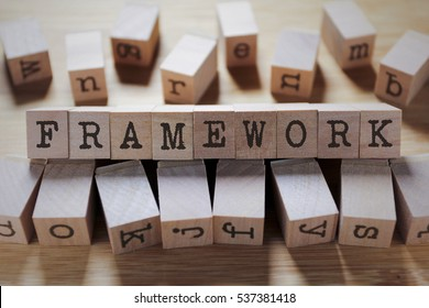 Framework Word In Wooden Cube