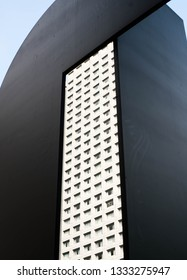framing a building on an art black boarder
