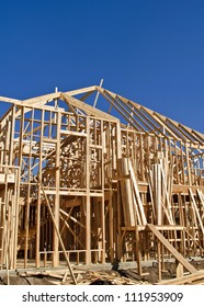 Framing of new home construction
