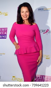 "Fran Drescher arrives at the taping of ""Jump, Jive & Thrive"" on Oct. 8, 2017 at UCLA's Pauley Pavilion in Los Angeles, CA."