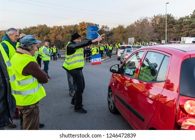 Montélimar Drôme France 12 01 2018 Yellow vests, the protest continues and grows in scope