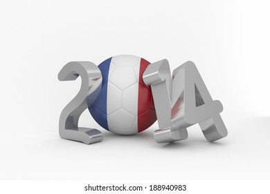 France 2014 on white background
