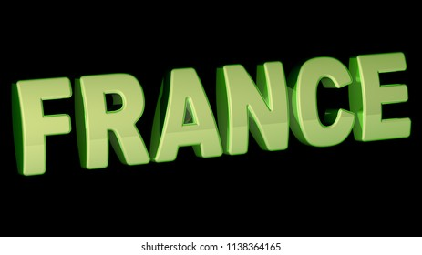 France. 3D Illustration.