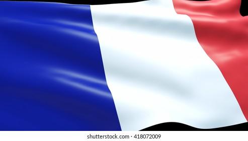 France - 3D illustration - flag