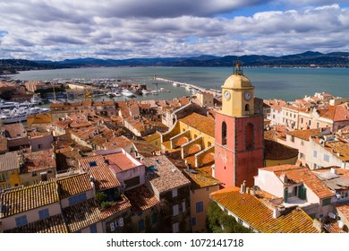 France, Aerial view of St Tropez,