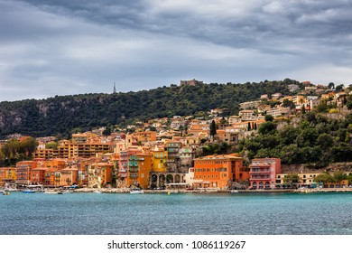 France, Alpes Maritimes, French Riviera, Villefranche sur Mer, resort town at Mediterranean Sea
