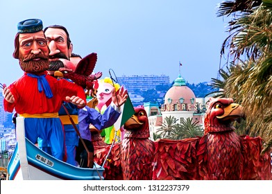 France, Alpes-Maritimes (06), Nice. 03/05/2014. Carnival, parade on the Promenade des Anglais