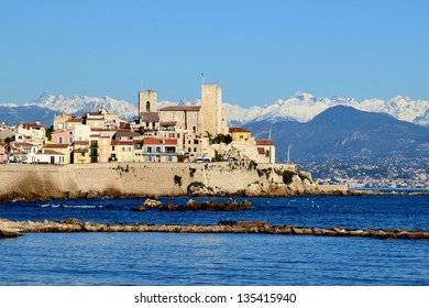 France, Antibes, old town, on the french riviera is an historic city surrounded with ramparts which shelters the museum dedicated to the artist Pablo Picasso in the Grimaldi castle.
