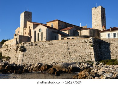 In France, Antibes old town is surrounded with ramparts, The castle Grimaldi shelters a museum dedicated to Pablo Picasso, the famous surrealist painter.