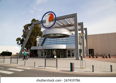 FRANCE - APRIL 3RD: The exterior of Leclerc supermarket on April 3rd, 2015 in Perpignan, France. Leclerc is one of France's leading supermarkets.