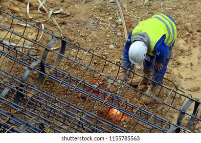 Besançon, France - August 21, 2013: Worker on a construction site.