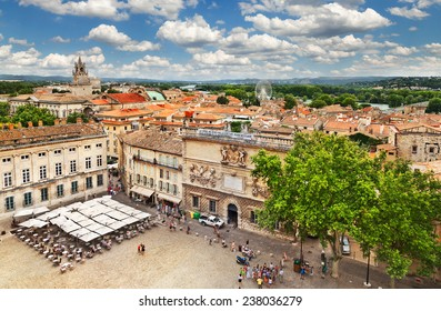FRANCE, AVIGNON - JULY 1: View on the rooftops on old town on July1, 2014 in Avignon, France