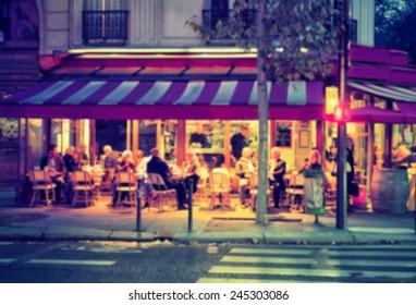 France background street caffe