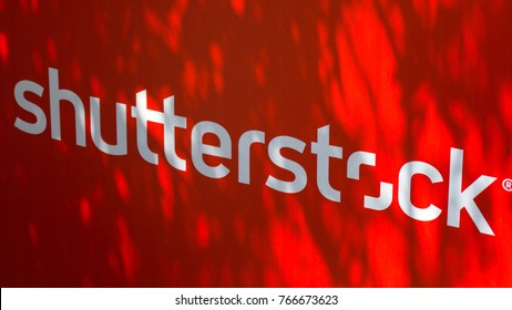 France. Cannes. 21 June 2017. Billboard Shutterstock on the Croisette
