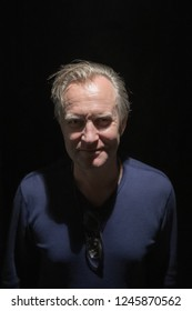 France, Cannes, 25 May 2017: The film actor, producer and film director Ulrich Thomson in one of restaurant of Cannes during carrying out Cannes Film festival, close up portrait, movie star, celebrity