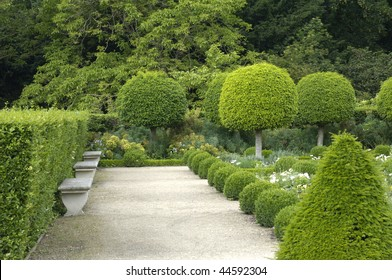 France, castle of Sceaux, formal garden