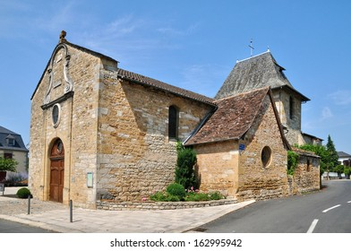 France, the church of Bretenoux in Lot