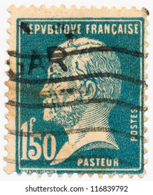 FRANCE - CIRCA 1926: A stamp printed in France, shows portrait of Louis Pasteur, circa 1926