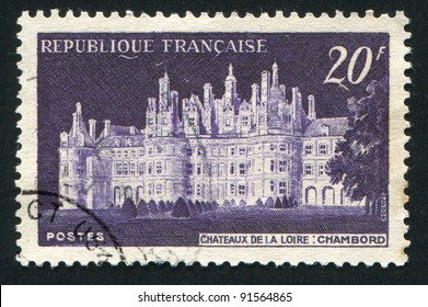 FRANCE - CIRCA 1952: stamp printed by France, shows Chateau de Chambord, circa 1952