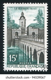 FRANCE - CIRCA 1957: stamp printed by France, shows Le Quesnoy, circa 1957