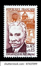 "FRANCE - CIRCA 1962: A stamp printed in France shows Edouard Estaunie ""Writer"", circa 1962."
