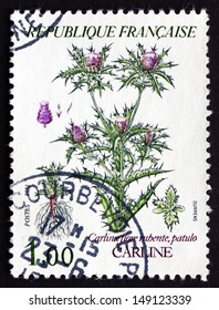 FRANCE - CIRCA 1983: a stamp printed in the France shows Thistle, Cynareae, Flowering Plant, circa 1983