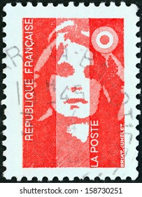 FRANCE - CIRCA 1990: A stamp printed in France shows Marianne type Briat, circa 1990.