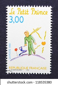FRANCE - CIRCA 1998: a postage stamp printed in France showing an image of The Little Prince a novel of Antoine de Saint-Exupery, circa 1998.