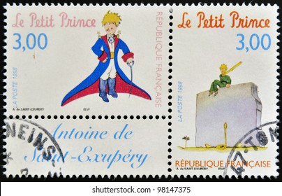 FRANCE - CIRCA 1998: A stamp printed in France shows the little prince, circa 1998