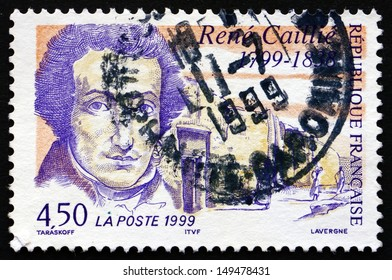 FRANCE - CIRCA 1999: a stamp printed in the France shows Rene Caillie, French Explorer of Africa, the First European to Return Alive from the Town of Timbuktu, circa 1999