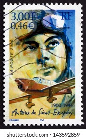 FRANCE - CIRCA 2000: a stamp printed in the France shows Antoine de Saint-Exupery, Aviator, Writer, circa 2000