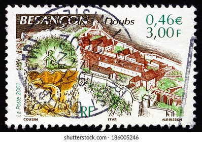 FRANCE - CIRCA 2001: a stamp printed in the France shows Vauban'??s Citadel, Besancon, Department of Doubs, circa 2001